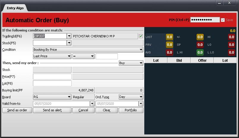 automatic order esmart milik bni sekuritas