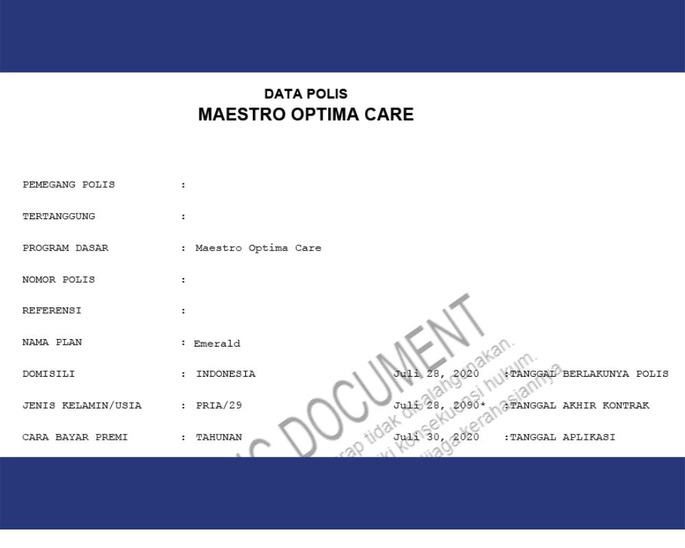 Saya agen asuransi dan memilih Maestro Optima Care